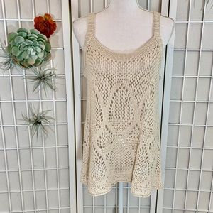 LC Lauren Conrad Open Stitch Sweater Tank